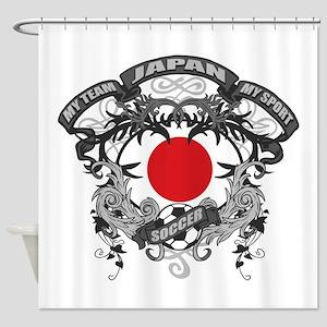 Japan Soccer Shower Curtain