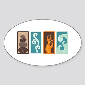 Four Elements Zodiac Earth Air Fire Water Sticker