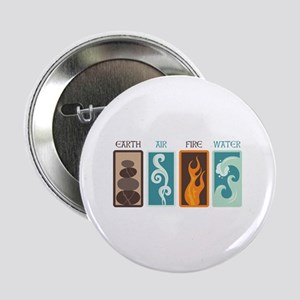 "Earth Air Fire Water 2.25"" Button"