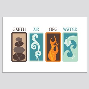 Earth Air Fire Water Posters