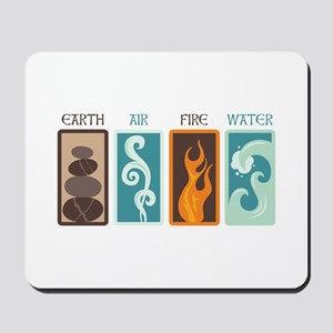 Earth Air Fire Water Mousepad