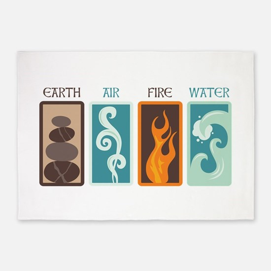 Earth Air Fire Water 5'x7'Area Rug