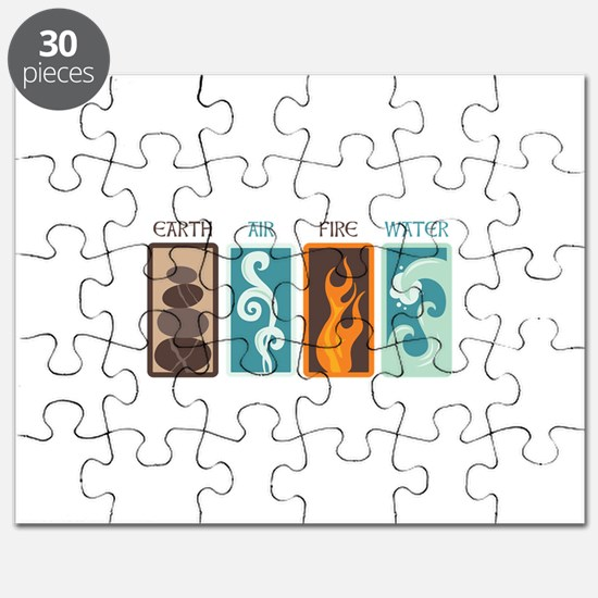 Earth Air Fire Water Puzzle