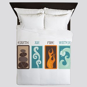 Earth Air Fire Water Queen Duvet
