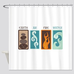 Earth Air Fire Water Shower Curtain