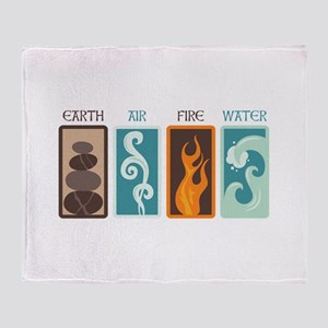 Earth Air Fire Water Throw Blanket