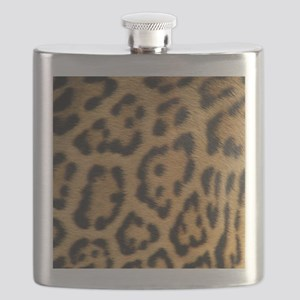 Leopard fur Flask