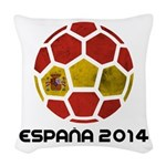 Spain World Cup 2014 Woven Throw Pillow