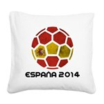 Spain World Cup 2014 Square Canvas Pillow
