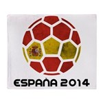 Spain World Cup 2014 Throw Blanket