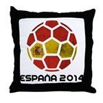 Spain World Cup 2014 Throw Pillow