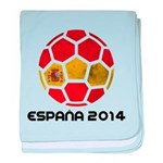 Spain World Cup 2014 baby blanket