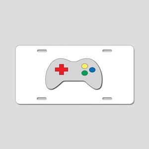 Game Controller Aluminum License Plate