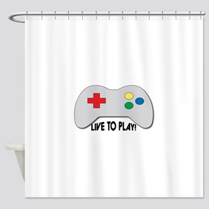 Live To Play! Shower Curtain