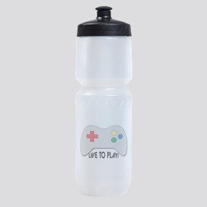 Live To Play! Sports Bottle