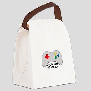 I Play Like Its My Job Canvas Lunch Bag