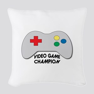 Video Game Champion Woven Throw Pillow