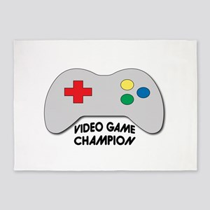 Video Game Champion 5'x7'Area Rug