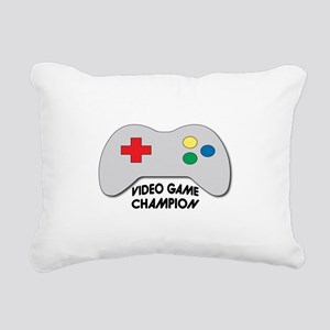 Video Game Champion Rectangular Canvas Pillow