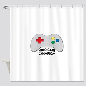 Video Game Champion Shower Curtain
