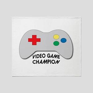 Video Game Champion Throw Blanket