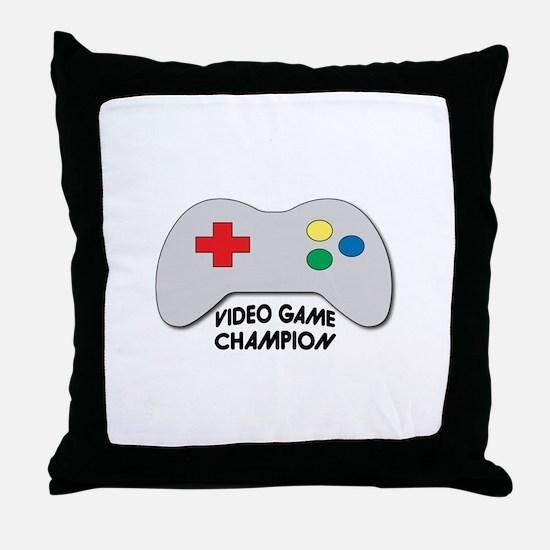 Video Game Champion Throw Pillow