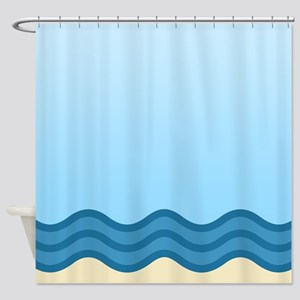 Abstract Beach Waves Shower Curtain