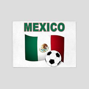 Mexico soccer 5'x7'Area Rug
