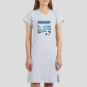 Uruguay soccer futbol Women's Nightshirt