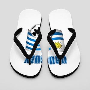 Uruguay soccer futbol Flip Flops