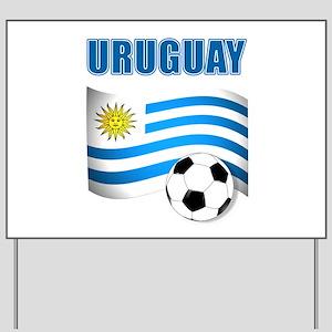 Uruguay soccer futbol Yard Sign