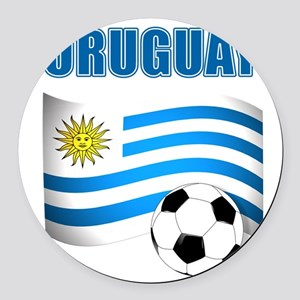 Uruguay soccer futbol Round Car Magnet