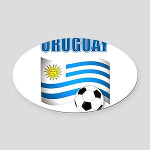 Uruguay soccer futbol Oval Car Magnet