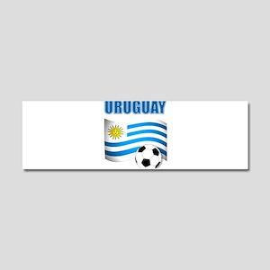 Uruguay soccer futbol Car Magnet 10 x 3