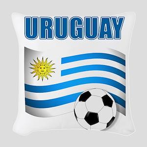 Uruguay soccer futbol Woven Throw Pillow