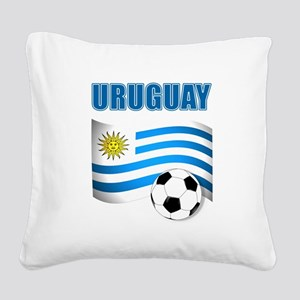 Uruguay soccer futbol Square Canvas Pillow