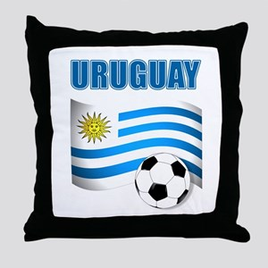Uruguay soccer futbol Throw Pillow