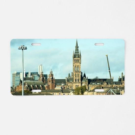 University of Glasgow Aluminum License Plate