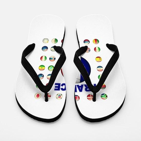 France Football Flip Flops