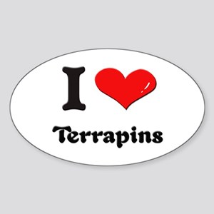 I love terrapins Oval Sticker