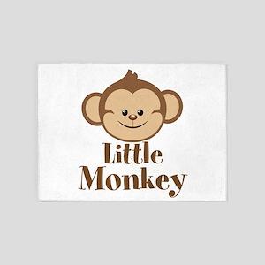 Cute Little Monkey 5'x7'Area Rug