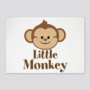 Cute Little Monkey 5 X7 Area Rug