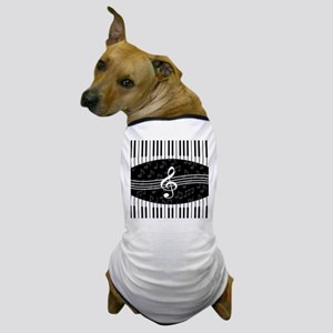 Stylish designer piano and music notes Dog T-Shirt
