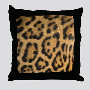 Leopard fur Throw Pillow