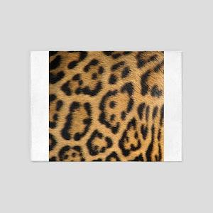 Leopard fur 5'x7'Area Rug