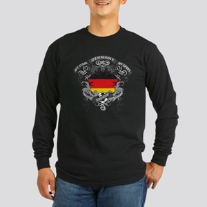 Germany Soccer Long Sleeve Dark T-Shirt