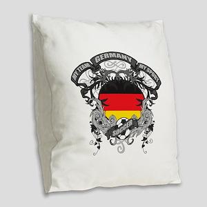 Germany Soccer Burlap Throw Pillow