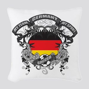 Germany Soccer Woven Throw Pillow