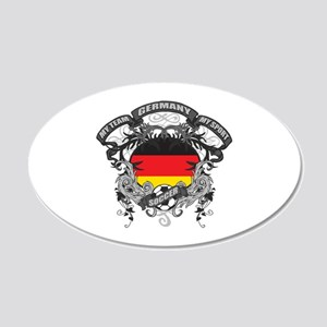 Germany Soccer 20x12 Oval Wall Decal