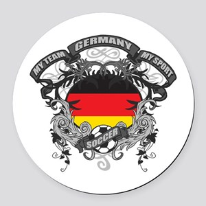 Germany Soccer Round Car Magnet